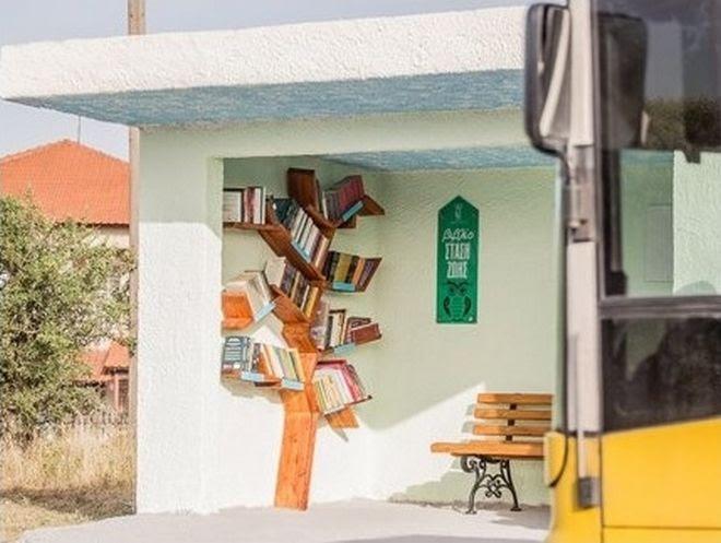 Συνολικά, πέντε στάσεις του ΟΑΣΘ -τέσσερις στην περιοχή του Φιλύρου και μία στο Πανόραμα- έχουν μετατραπεί σε τέτοιους ξεχωριστούς χώρους διαβάσματος