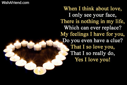 When I Think About You True Love Poem