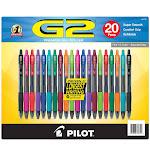 Pilot G2 Gel Pens Assorted Colors 20-pack