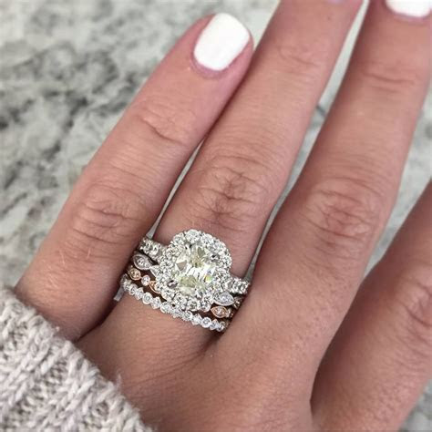 Best 25  Stacked wedding rings ideas on Pinterest