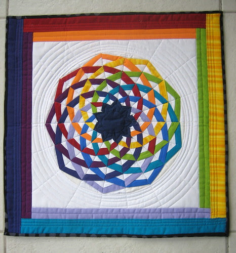 """The quilt I got from Julie for the """"Little Quilt - Sew, Vote, and Swap group""""."""