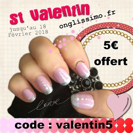 code promo St Valentin sur Onglissimo.fr - Nail Art Stamping by Konad Onglissimo France