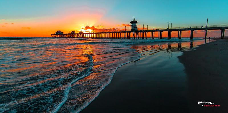 2013-10-29 Sunset Over Huntington Beach Pier-9106