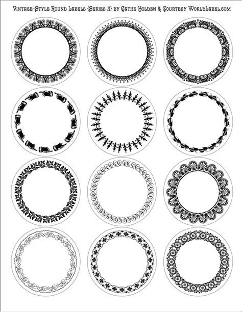 Vintage Style Round Labels by Cathe Holden (Series 2