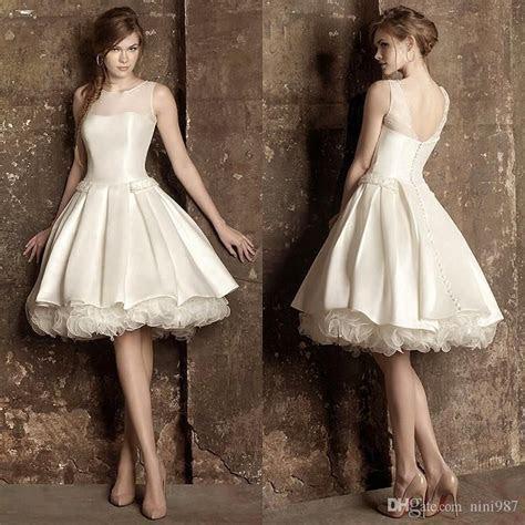 Ivory Taffeta Cap Sleeve Short Beach Wedding Dresses 2017