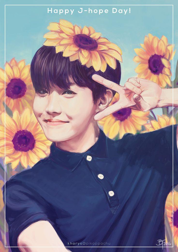 Bts Images Hobi Flower Fanart Hd Wallpaper And Background Photos