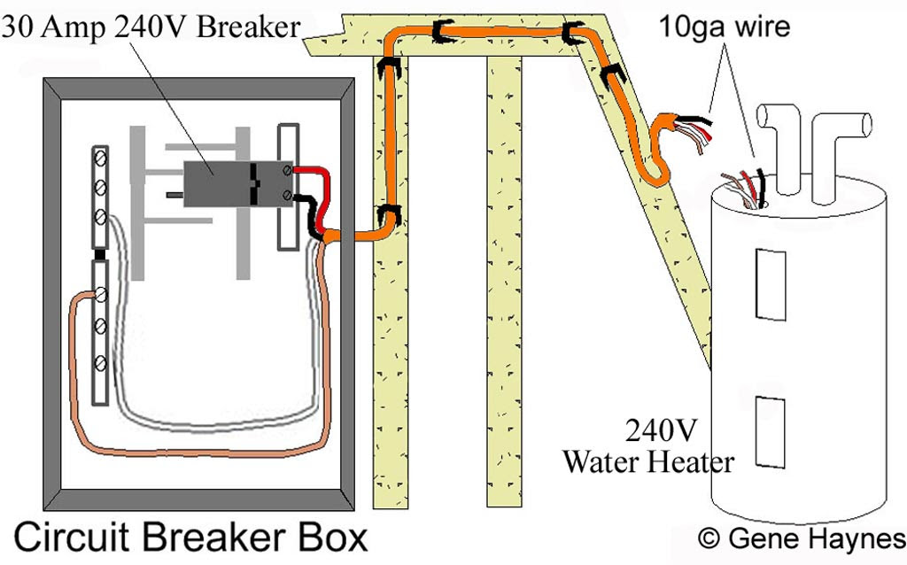 Water Heater Wiring Red To White