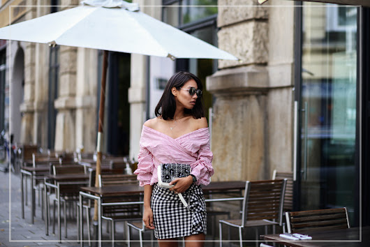 outfit: karo rock & off shoulder bluse - thefashionanarchy