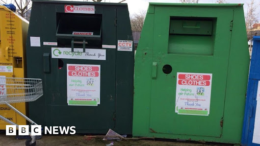 Missing clothes banks lose charities cash