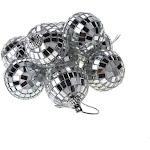 Hanging Mirror Disco Ball, Silver, 1-1/2-Inch, 9-Piece