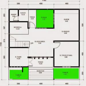 terbaik 12+ denah rumah ukuran 6x14 3 kamar tidur, paling