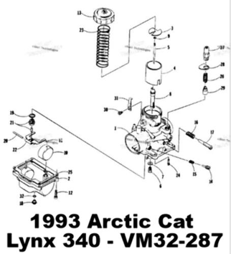 1995 Arctic Cat Puma 340 Carburetor