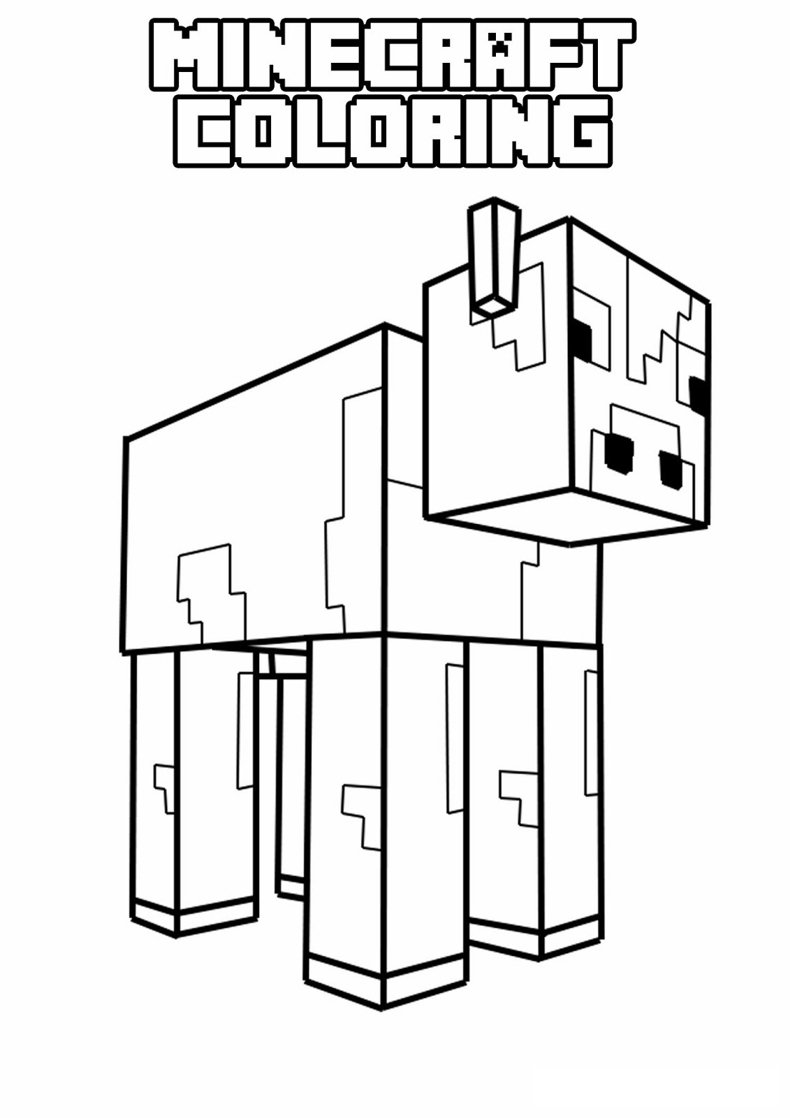 Kleurplaat Minecraft Story Mode
