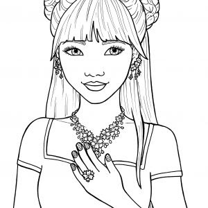 girl hair coloring pages at getcolorings  free printable colorings pages to print and color