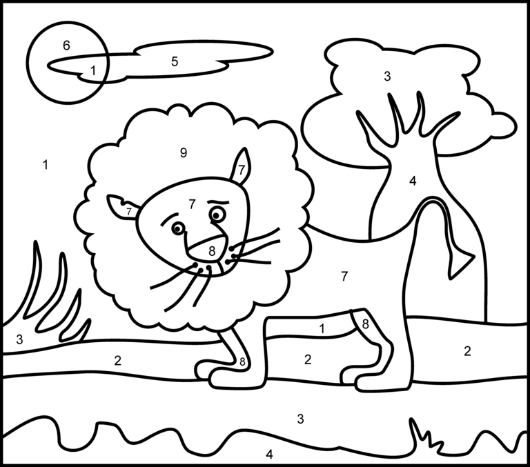 Color By Numbers For Kids - Coloring Home