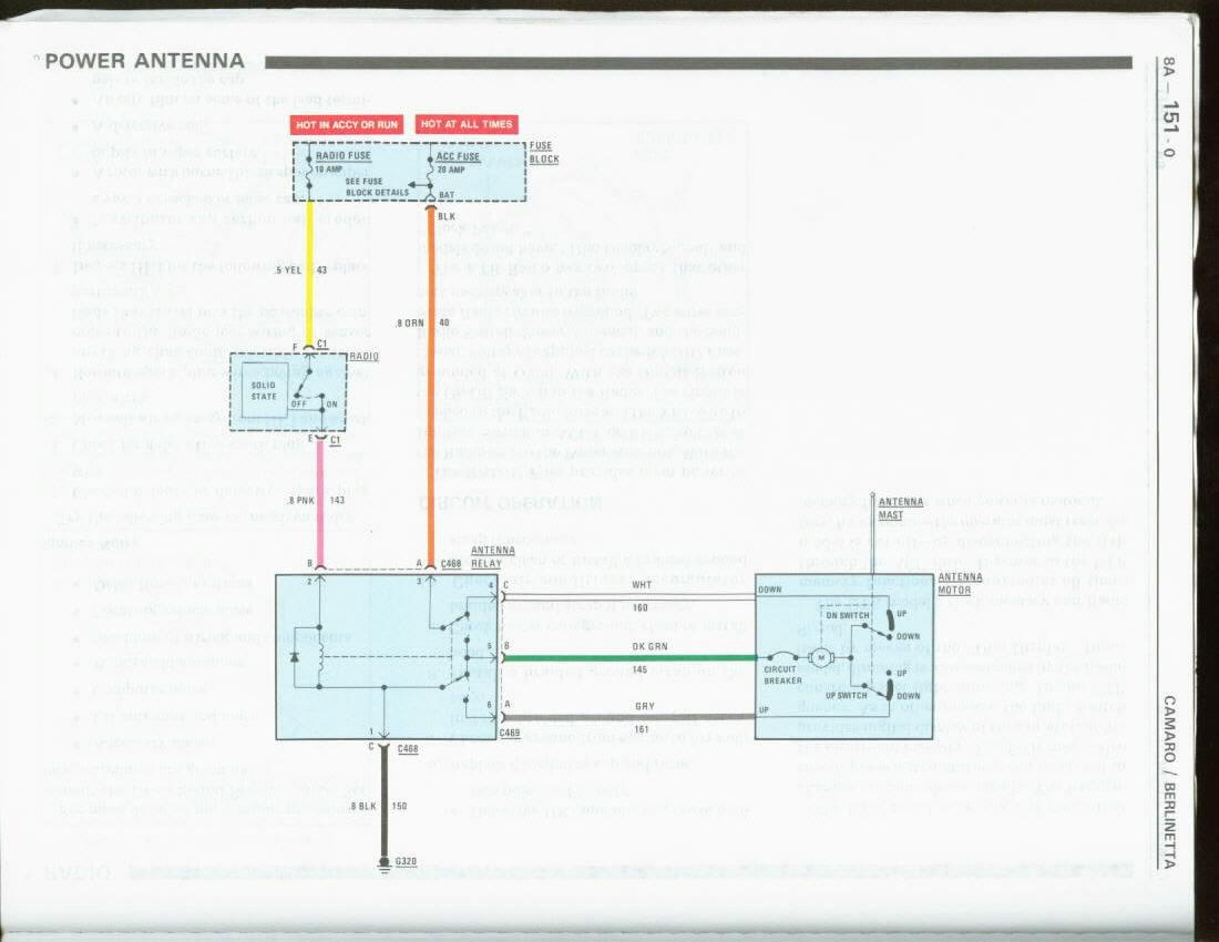 Wiring Diagram For Power Antenna