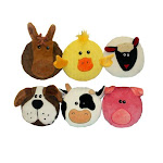 Multipet 43203 Sub-woofers Disc-shaped Corduroy Animal Dog Toy, Assorted, 7""