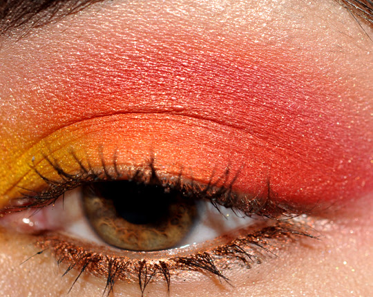 Bright Makeup: Yellow, Orange, & Red