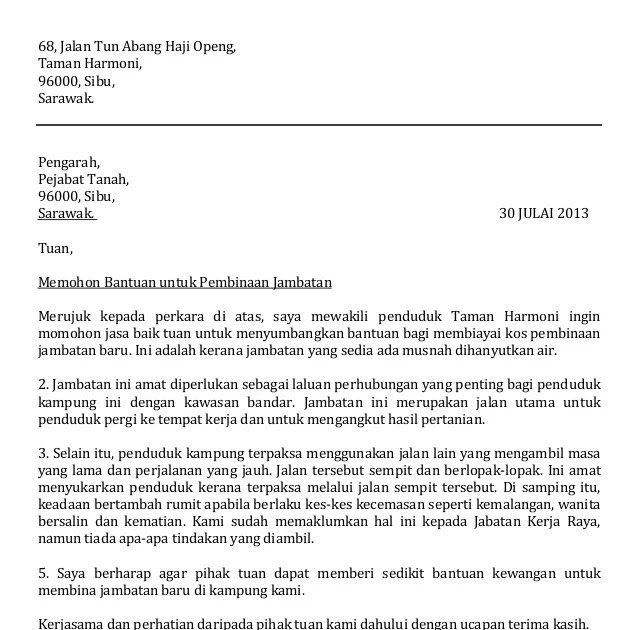 karangan surat kiriman rasmi aduan tentang kebersihan kantin sekolah surat r