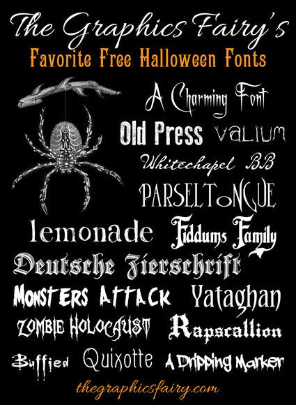 graphics fairy halloween fonts