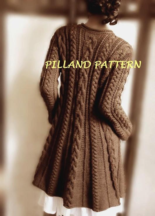 New Pattern Knitted Sweater Coat From Pilland Knittingpattern