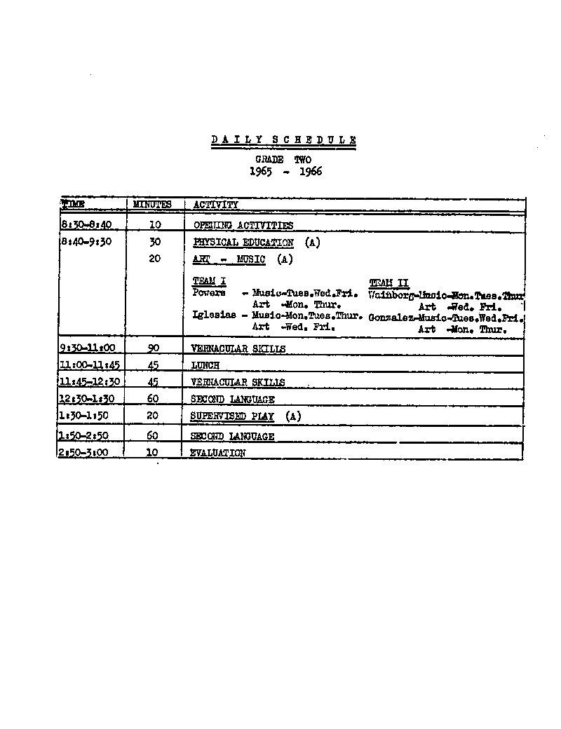 Daily schedule grade 2   UAiR