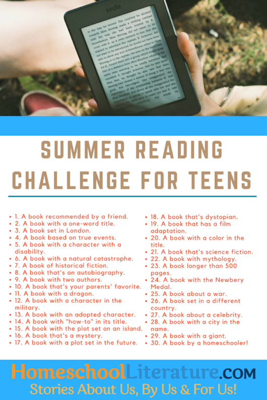 Summer Reading Challenge for Teens | Homeschool Literature