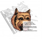 Norwich Terrier Dog Intarsia or Yard Art Woodworking Pattern - fee plans from WoodworkersWorkshop® Online Store - Norwich Terrier Dog s,pets,intarsia,yard art,painting wood crafts,scrollsawing patterns,drawings,plywood,plywoodworking plans,woodworkers projects,workshop blueprints