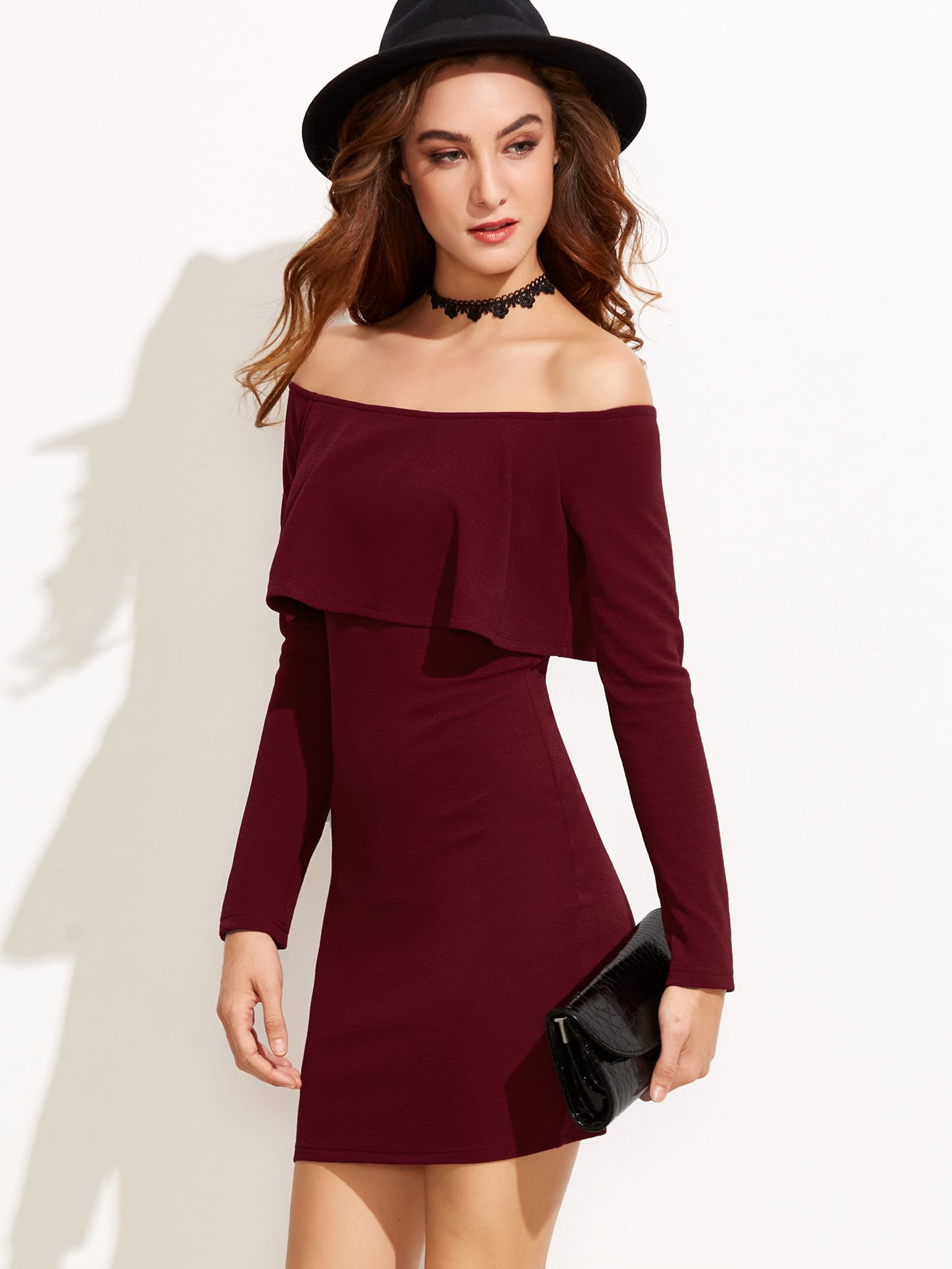 Up fabric dress bodycon ruffle with bottom brands