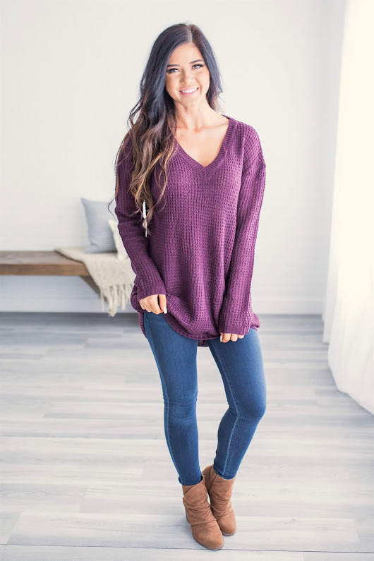 Gorgeous Gemma V-Neck Knit Sweaters ONLY $19.99 Shipped (Reg. $50)!! - Savings Aplenty