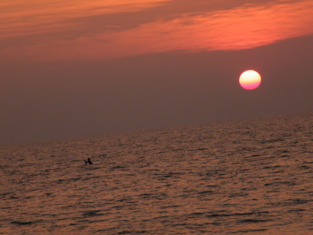 sunset at Varkala Beach