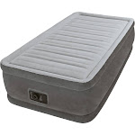 Intex Comfort Plush Elevated Dura-Beam Airbed with Built-In Electric Pump Twin