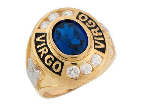 Two Tone Gold Simulated Sapphire CZ September Birthstone