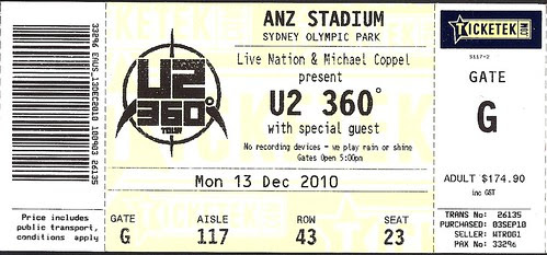 u2 ticket 2010