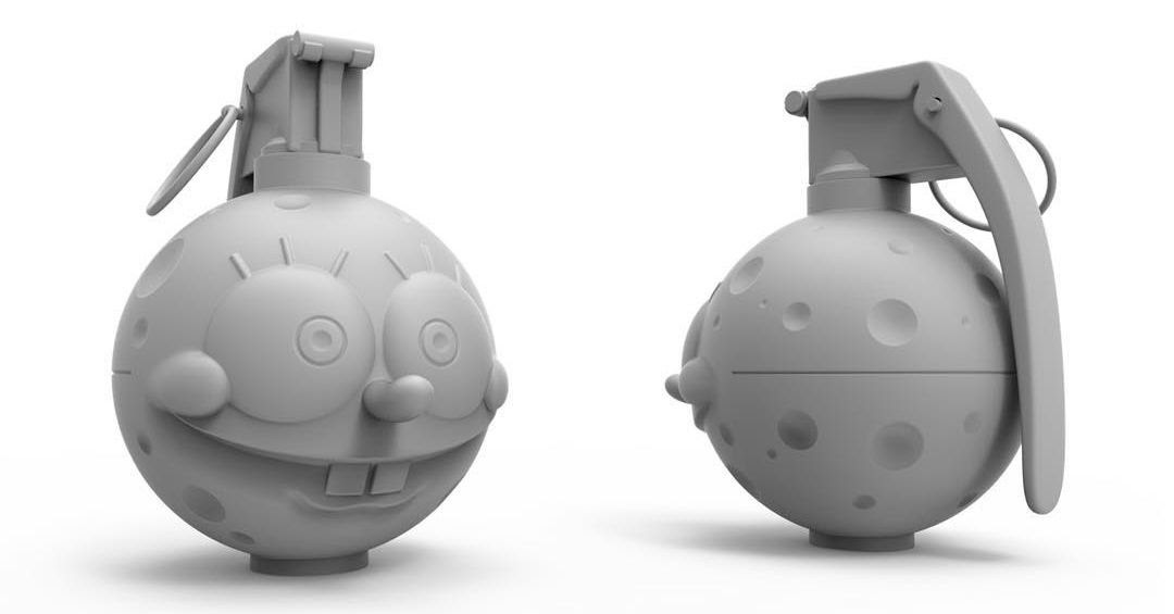 NEW Pobber Mono Edition Spongrenade SpongeBob SquarePants by Nathan Cleary