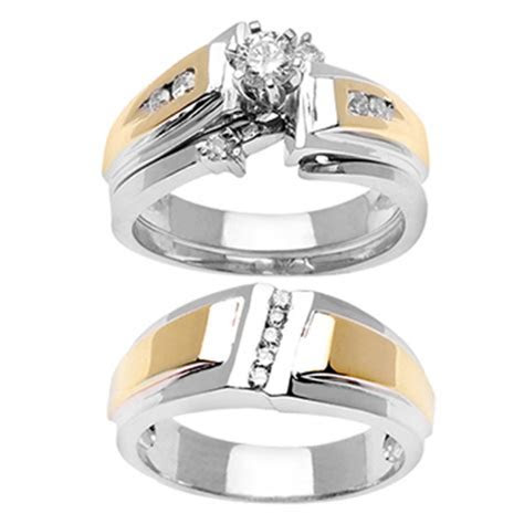 .59ct TCW 14K Two Tone Gold Trio Ring Set  9003335   Shop