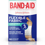 BAND-AID Brand Flexible Fabric Adhesive Bandages, All One Size - 30 count