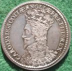 Charles I, Scottish Coronation 1633, silver medal by Nicholas Briot