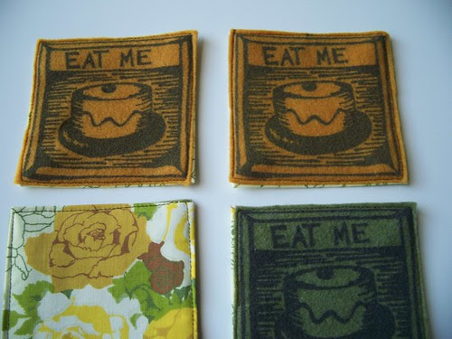 gold & green coasters