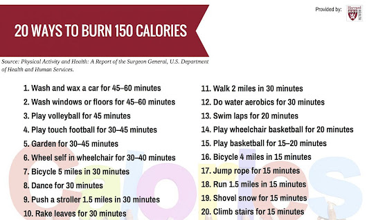 Personal Trainer Toronto — 20 ways to burn 150 calories