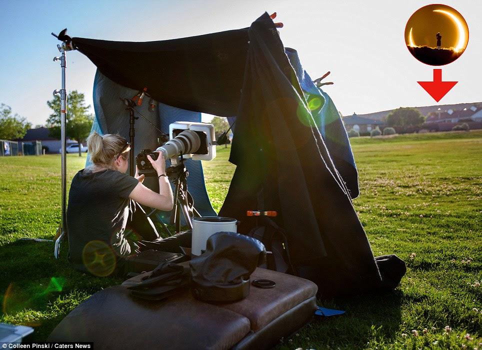 Fotografer ini berjalan jauh dari rumahnya untuk memperoleh foto gerhana