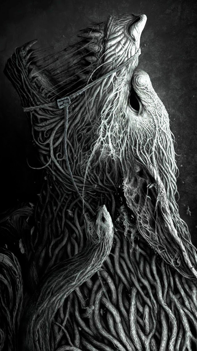 Roots Wolf iPhone Wallpaper HD