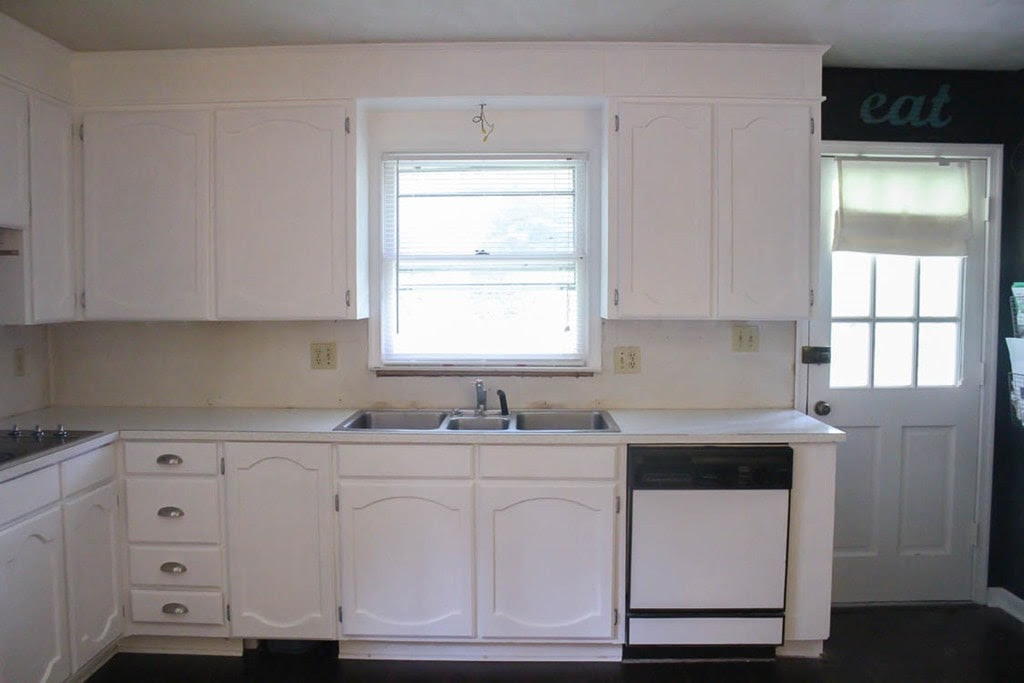 Painting oak cabinets white An amazing transformation