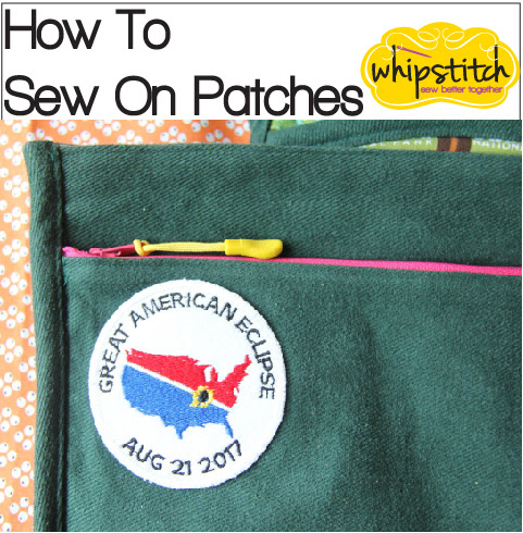 How To Sew On Patches | Whipstitch