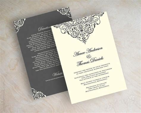 Items similar to Vintage filigree wedding invitation