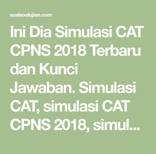Kunci Jawaban Simulasi Cat Inti Soal