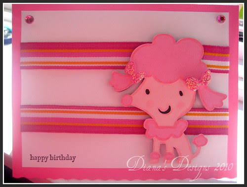Poodle Birthday Card
