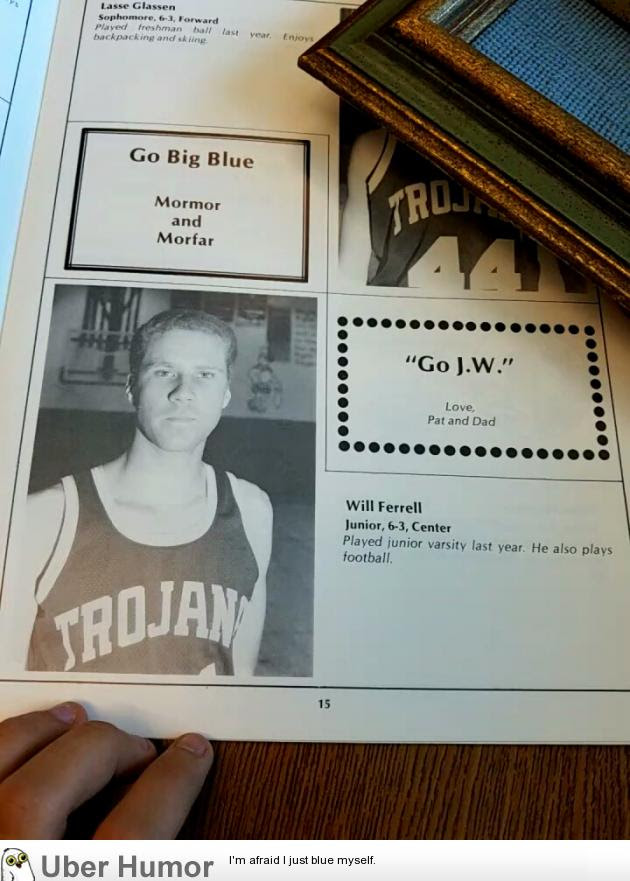 Found Will Ferrell In My Schools 1984 85 Yearbook Funny Pictures