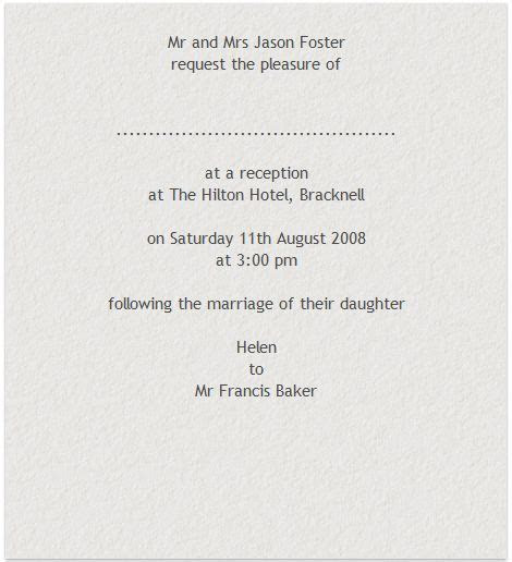 Wedding Invitation Wording Ceremony And Evening Only