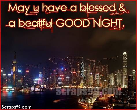 May U Have A Blessed A Beautiful Good Night Good Night Quote